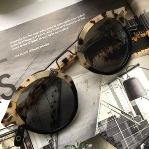 Krewe STL II oyster to black 24k sunglasses